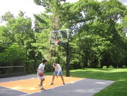 Basketball Court In Backyard Cost by Basketball Tennis Multi Use Courts L Deshayes Dream Courts
