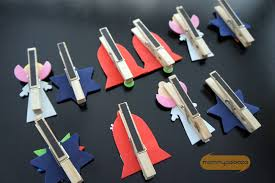 magnetic clothespin ornament card display craft