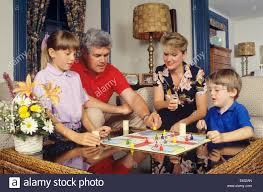 1980s 1990s engaged family of four parcheesi board at