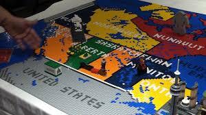 lego map of canada u2013 brickfete toronto 2015 youtube