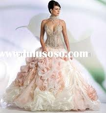 Wedding Dresses For Sale Princess Organza Material Diamond Beaded Bridal Wedding Dress For