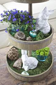Spring Decor 2017 Tiered Tray Decor For Spring And Easter 2 Bees In A Pod