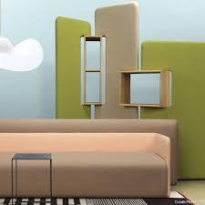 panneaux acoustiques bois paravent tres moderne en plusieurs modules avec des rangements en