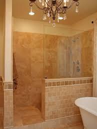 Master Bath Shower Walk In Shower Tiles Half Wall Master Bathroom Ideas Home Decor