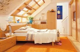 Nursery Interior Nuance Interior Stunning Attic Bedroom Design With Bright Orange Scheme