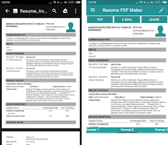 cv builder resume pdf maker cv builder apk version 1 8