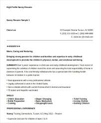 Best Nanny Resume Example Livecareer by Nanny Resume Template Nanny Resume Example Best Software Engineer
