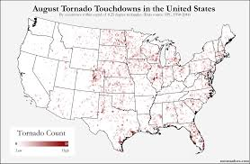 Midwest States And Capitals Map by Here U0027s Where Tornadoes Typically Form In August Across The United