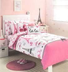 Queen Size White Duvet Cover Paris Cherie Eiffel Tower Pink Black White Poodle Single Quilt