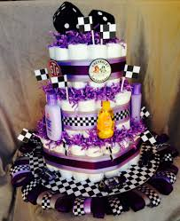 girly race car diaper cake diaper cakes pinterest diapers
