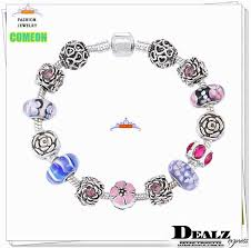 european bead charm bracelet images High quality silver 925 charms bracelets european crystal glass jpg