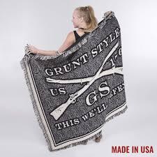 grunt style throw blanket