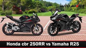 honda cbr range honda cbr 250rr vs yamaha r25 auto advice youtube