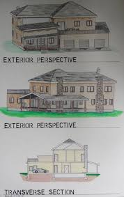 Residential Ink Home Design Drafting by Zachary Pearson Hand Drafting Sketches