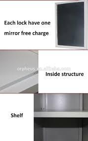 kd structure vertical 3 door design steel clothes cabinet wall