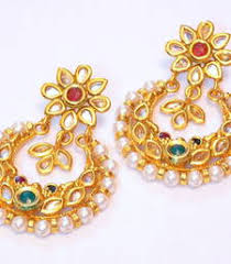 Buy Kundan Embellished Dangler Earrings Artificial Jewellery Online Buy Fashion Imitation Jewellery