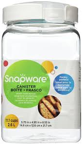 amazon com snapware airtight 10 piece plastic canister set