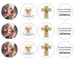 communion cake toppers communion cupcake toppers