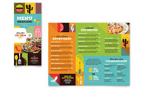 mexican food u0026 cantina take out brochure template design