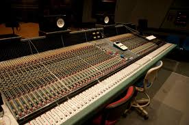 Studio Console Desk by Literary And Technical Aspects Of Audio Production Writing For