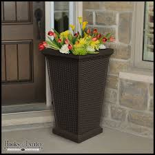 Tall Galvanized Planter by Tall Patio Planter Decorative Outdoor Planters Hooks And Lattice