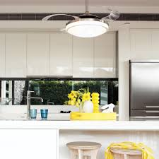 fanaway evo2 endure brushed chrome ceiling fan with retractable