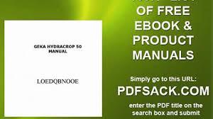 geka hydracrop 50 manual video dailymotion