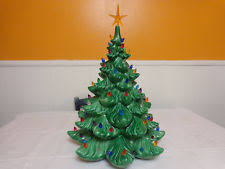 ceramic christmas tree with lights ceramic christmas tree lights vintage new ebay
