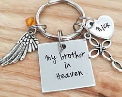in memory of keychains loss of etsy