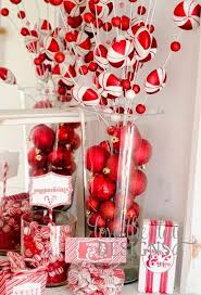 White Heart Christmas Decorations by Red White Christmas Decorations 24 All About Christmas