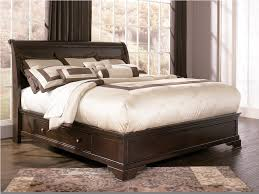 King Platform Bed With Storage King Size Storage Bed Ashley Leighton Storage Sleigh Bed B577