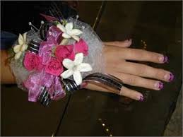 wrist corsage prices wrist corsage with hot pink sweethearts and stephanotis
