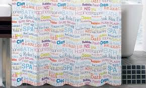 Words Shower Curtain Bath Words Peva Shower Curtain Groupon Goods