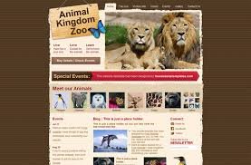 zoo brochure template free html templates more than 50 superb designs