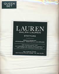 Ralph Lauren Sheet Set Amazon Com Lauren Ralph Lauren Stafford 100 Cotton Sateen 4