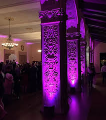 wedding arches los angeles wedding uplighting of dining room arches at the ebell of los