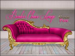 Pink Chaise Lounge Second Marketplace Boudoir Chaise Lounge Gold Pink