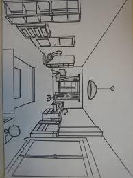 dessin chambre en perspective dessiner une en perspective frontale idées de décoration