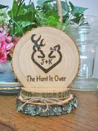 Romantic Decor And More Rustic Wedding Cake Topper Deer Hunting Wood Burned Romantic