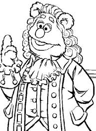 royal highness fozzie bear muppets coloring pages royal