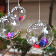 10pcs 4cm tree decor clear plastic balls transparent