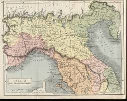 Map Of Northern Italy Hipkiss U0027 Scans Of Old Italy Maps