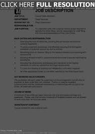 Job Description For Cashier For Resume cashier job description for resume free resume example and