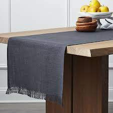 crate and barrel table runner beckett graphite 120 linen table runner crate and barrel c