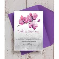 personalised 25th silver wedding anniversary invitations