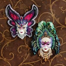 porcelain mardi gras masks masks wall decor design toscano