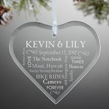 personalized ornaments wedding personalized christmas ornaments wedding heart