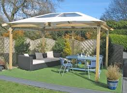 Patio Canopies And Gazebos Aesthetic Gazebos And Paved Patios From White Canvas Canopy Sheets