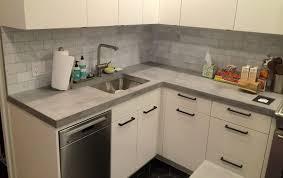 Concrete Tile Backsplash by Countertops White Cabinet And Mosaic Black Tile Backsplash