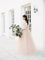 dusty wedding dress blush and dusty blue bridal inspiration in rosemary bajan wed